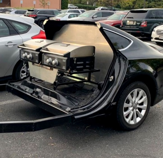 The owner of an Audi A7 cut up his car and turned it into a grill
