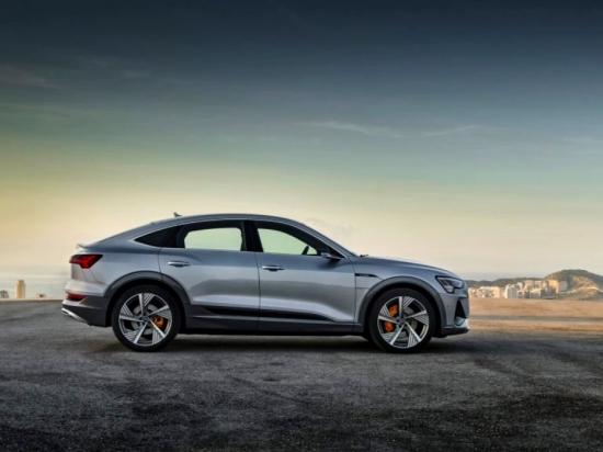 Audi unveiled the e-tron Sportback, a stylish crossover coupe, in Los Angeles